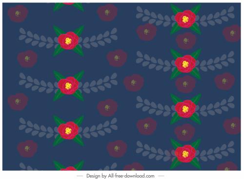 decorative pattern colorful repeating petals decor blurred design