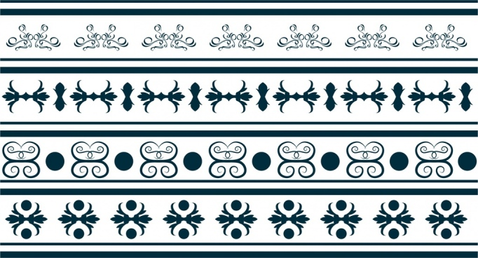decorative pattern design repeating style classical curves decoration
