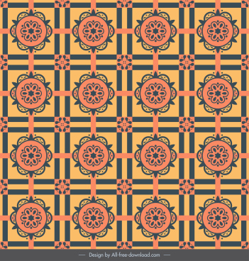 decorative pattern elegant retro repeating symmetric design