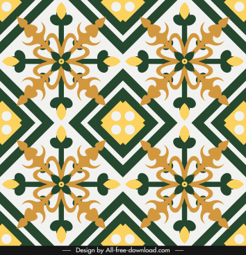 decorative pattern flat classical symmetric european design