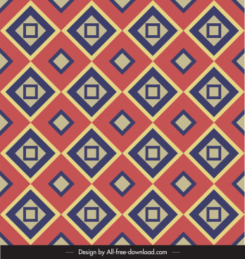 decorative pattern flat colorful geometric symmetric repeating design