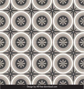 decorative pattern flat flora circle sketch repeating classic