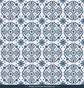 decorative pattern flat repeating symmetric shapes