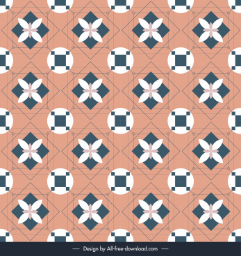 decorative pattern flat repeating symmetrical decor