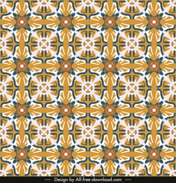decorative pattern flat repeating symmetrical illusion shapes