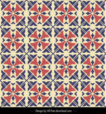 decorative pattern flat symmetrical retro repeating design