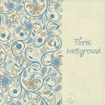 decorative pattern floral art background vector