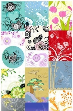 decorative pattern flower modern background vector