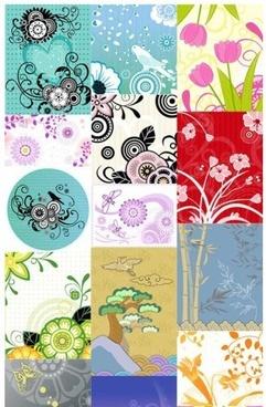decorative pattern flower modern background vector