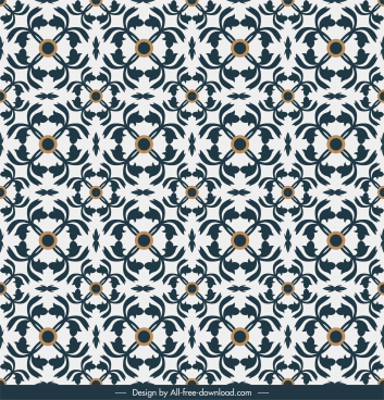 decorative pattern illusive symmetric repeating shapes