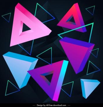 decorative pattern modern 3d triangles decor