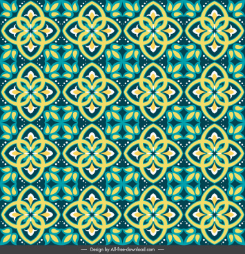 decorative pattern modern repeating symmetrical design