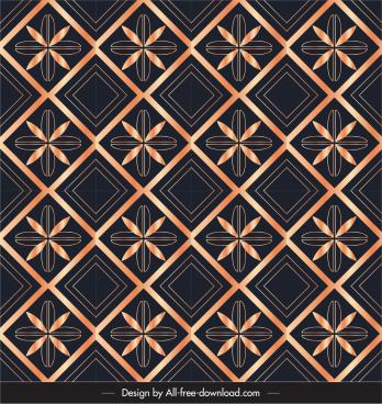 decorative pattern petal geometric decor repeating symmetric design