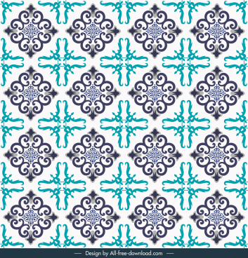 decorative pattern repeating symmetric flat abstract shapes