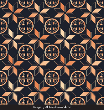 decorative pattern repeating symmetric petals sketch