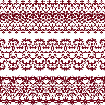 decorative pattern retro seamless borders vector set