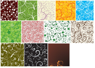 decorative pattern rolled seamless background vector
