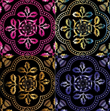 decorative pattern sets design with classical style