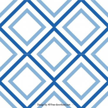 decorative pattern template blue flat geometric decor