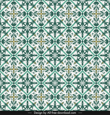 decorative pattern template classical symmetrical seamless repeating decor