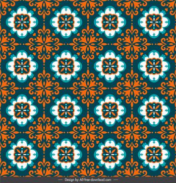 decorative pattern template dark classical repeating symmetrical illusion
