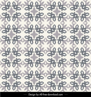 decorative pattern template flat classical repeating symmetric design