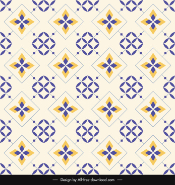 decorative pattern template flat repeating symmetrical design