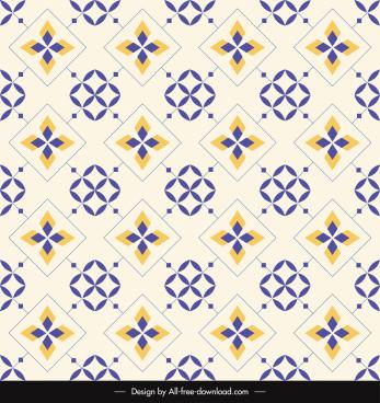 decorative pattern template flat repeating symmetrical design