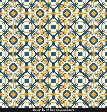 decorative pattern template flat repeating symmetrical seamless decor