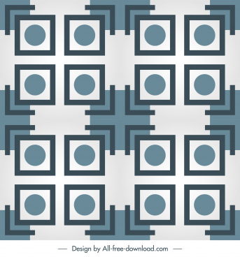 decorative pattern template flat symmetric geometry repeating sketch