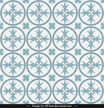 decorative pattern template repeating circles symmetric flora shapes