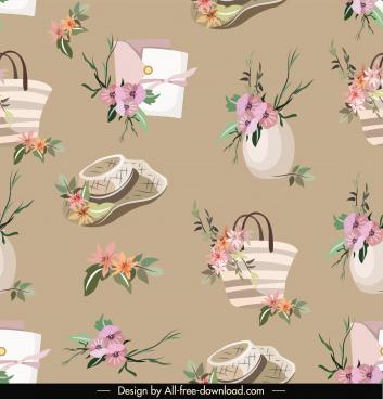decorative pattern template repeating elegant floral design