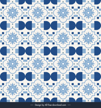 decorative pattern template repeating petals flat classical design
