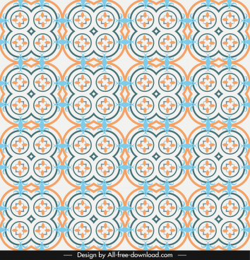 decorative pattern template repeating symmetric illusion design