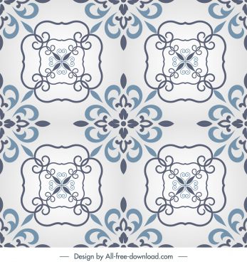 decorative pattern template retro european symmetric repeating design