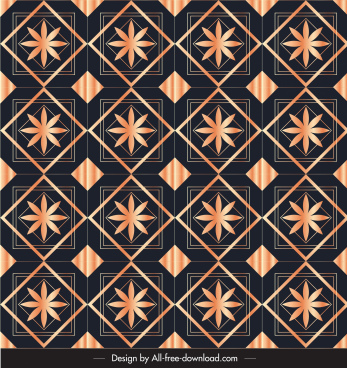 decorative pattern template shiny repeating symmetric floras design
