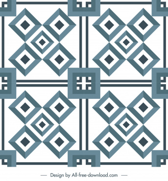 decorative pattern template symmetric design classic geometric decor