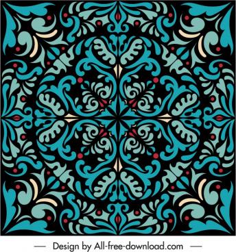 decorative pattern template vintage symmetry illusion decor