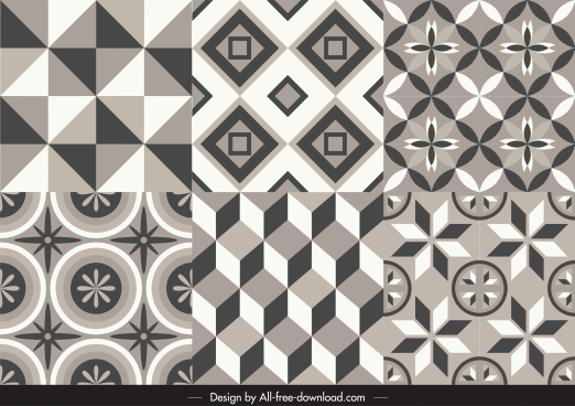 decorative pattern templates classical symmetric illusion design