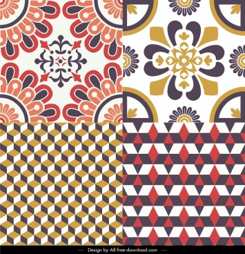 decorative pattern templates classical symmetrical repeating geometric decor