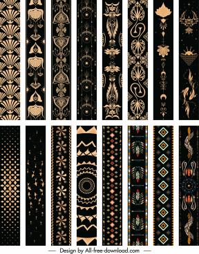 decorative pattern templates collection elegant retro repeating symmetric