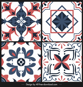 decorative pattern templates elegant classic symmetric flora sketch
