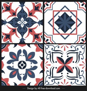 decorative pattern templates elegant classic symmetric flora sketch