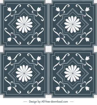 decorative pattern templates elegant classical symmetrical shapes