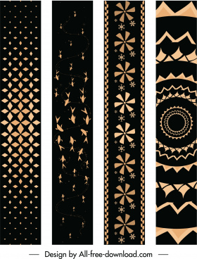 decorative pattern templates elegant dark repeating delusive design