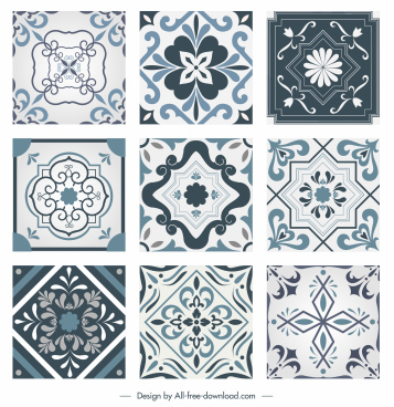 decorative pattern templates elegant european classic symmetry shapes