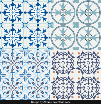 decorative pattern templates flat classical symmetric repeating decor