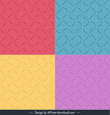 decorative pattern templates pastel repeating concentric circles illusion