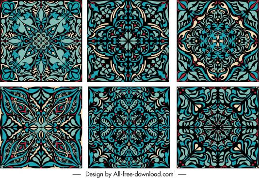 decorative pattern templates retro design illusion symmetric decor