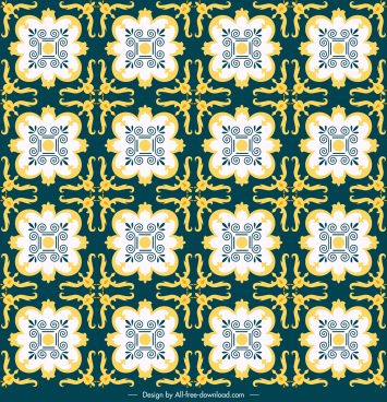 decorative pattern traditional classical repeating symmetrical sketch
